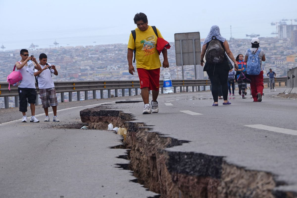 Evidence of the April 1, 2014 Chile earthquake.