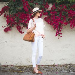 """Samantha of <a href=""""http://couldihavethat.blogspot.com/"""">Could I Have That? </a>is wearing <a href=""""http://oldnavy.gap.com/browse/product.do?cid=85732&vid=1&pid=730770622"""">Old Navy</a> jeans, an <a href=""""http://www.shopbop.com/gamine-tee-blouse-ace-jig/v"""