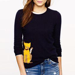 "<b>J. Crew</b> Tabby sweater in navy/mustard, <a href=""http://www.jcrew.com/womens_category/sweaters/crewnecks/PRDOVR~30559/30559.jsp"">$98</a>"