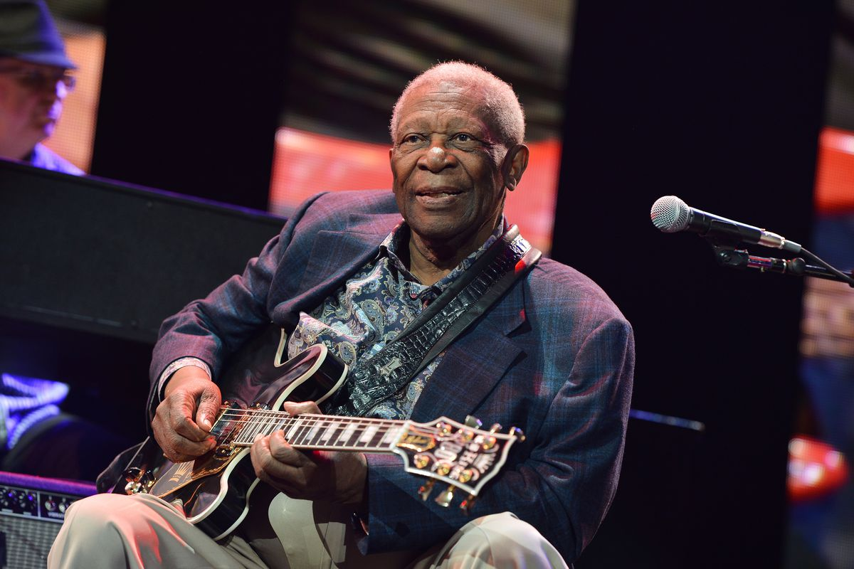 B.B. King performs on stage during the 2013 Crossroads Guitar Festival at Madison Square Garden on April 12, 2013, in New York City.