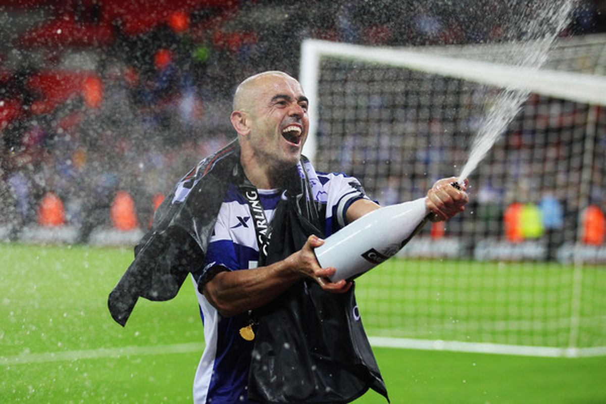 LONDON, ENGLAND - FEBRUARY 27: Stephen Carr of Birmingham City celebrates victory after the Carling Cup Final between Arsenal and Birmingham City at Wembley Stadium on February 27, 2011 in London, England.  (Photo by Alex Livesey/Getty Images)
