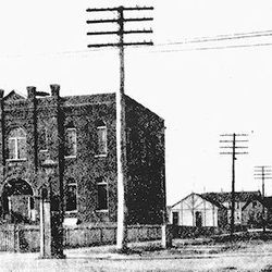 The Andersonville School, the first school in the neighborhood, was located at Clark & Foster. It was built in 1854.  Provided by The Edgewater Historical Society