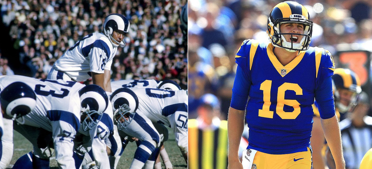 "d5d889cf NFL's sharpest looks: Los Angeles Rams ""fauxback"" uniforms are a ..."