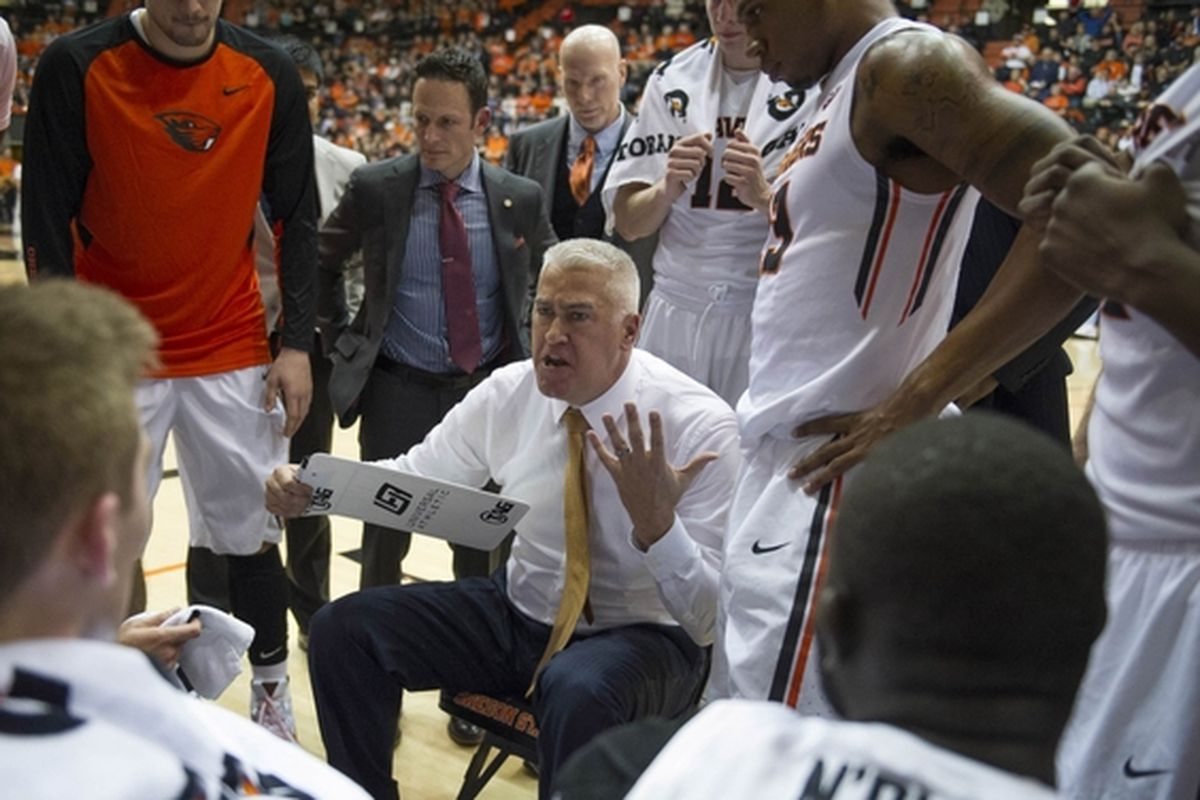 Oregon State Coach Wayne Tinkle will try to draw up a winning plan for the Beavers tonight that works better than Wednesday's did.
