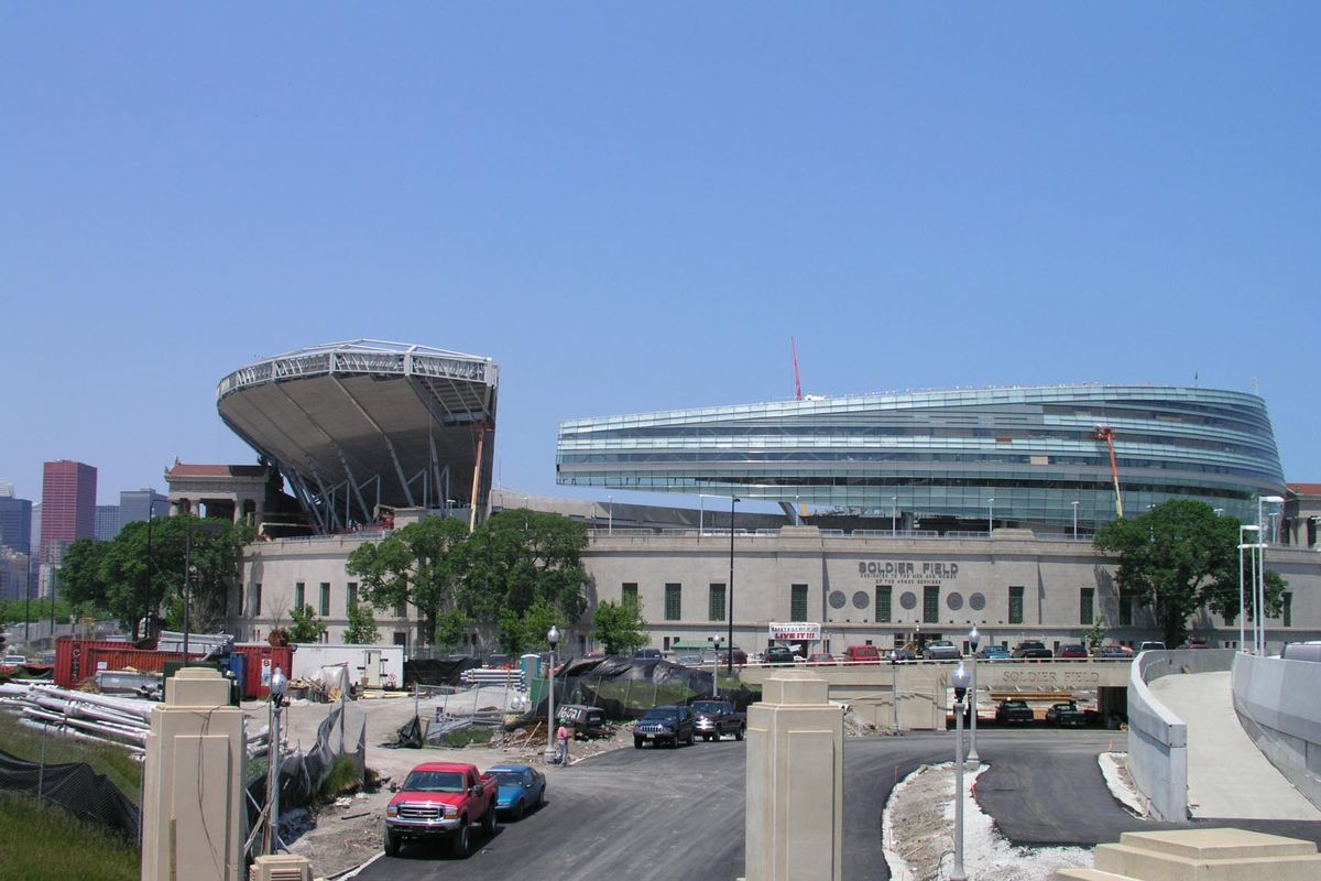 Soldier Field is the host site of the city's newest drive-in movie theater.
