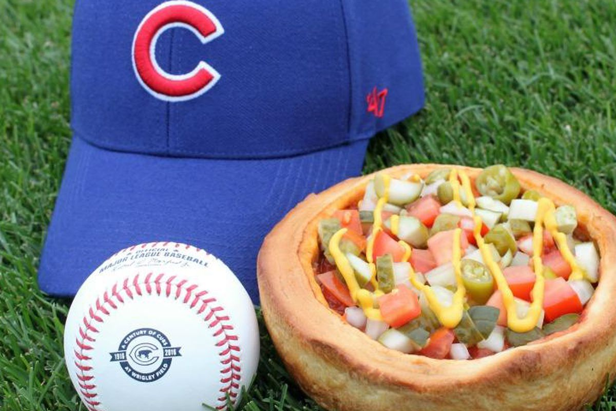 Chicago-Style Hot Dog Deep Dish Pizza