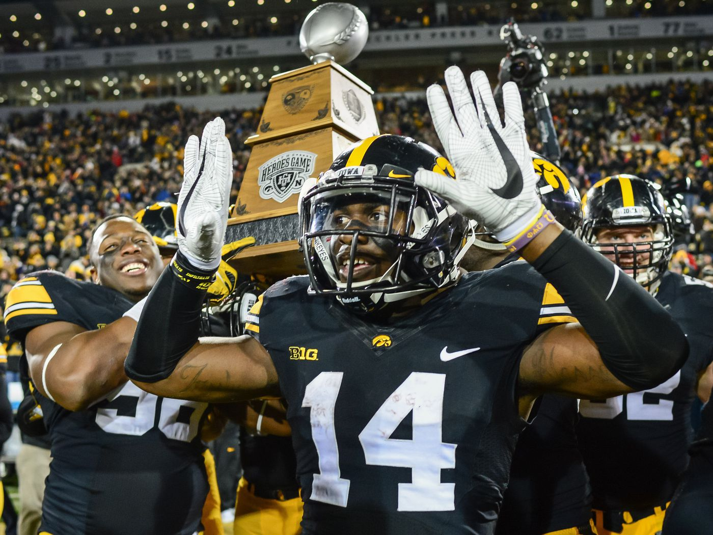 9f83e6cb318 SWAGGED OUT  What cool gifts will Iowa Football players get from the  Outback Bowl  - Black Heart Gold Pants