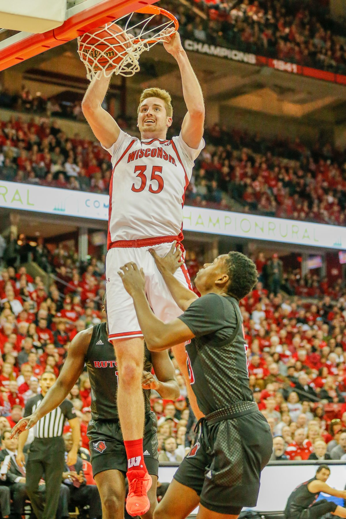 COLLEGE BASKETBALL: FEB 23 Rutgers at Wisconsin