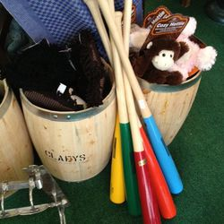 Rainbow baseball bats (originally $74, now $37)