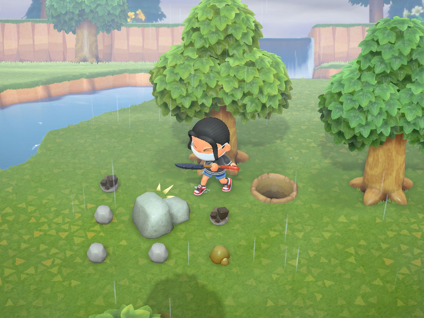How To Move Rocks In Animal Crossing New Horizons Switch Polygon