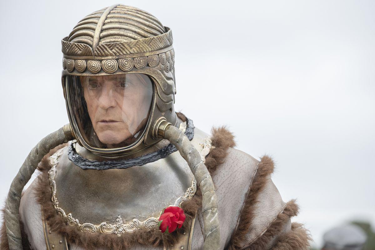 Ozymandias prepares to go on a space walk.
