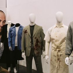 A collection of outfits worn on the show, including Tony Blundetto'swork uniform, the suit Christopher Moltisanti was wearing when he was shot in Season 2, and the sweatshirt and jeansMatthew Bevilaqua was wearing when he was killed
