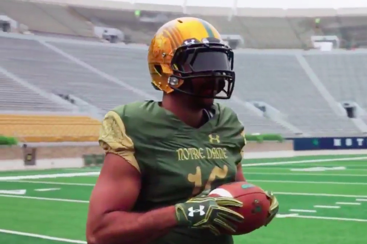 NOTRE DAME SHAMROCK SERIES UNIFORMS ARE STAID 06b9d05e8
