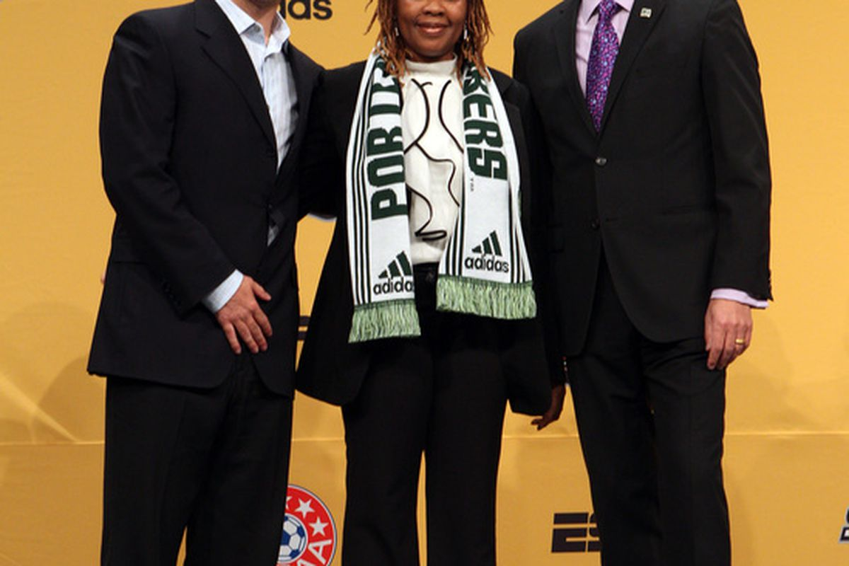 Hey Vancouver, I hear Darlington Nagbe's mom is a free agent. If she's 1/4 the striker her son is, she'd be the best striker you'd have in 2011.