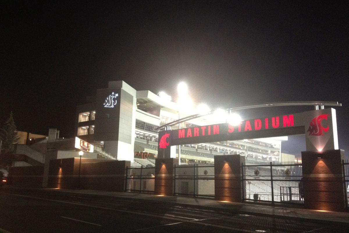 The Cougar Football Project is lit up and looking great tonight.