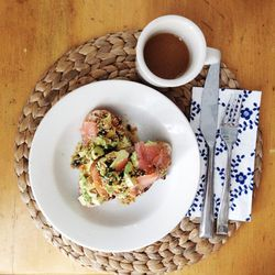 Favourite weekend breakfast right now is smoked salmon with avocado on fresh crusty bread. Mmm.