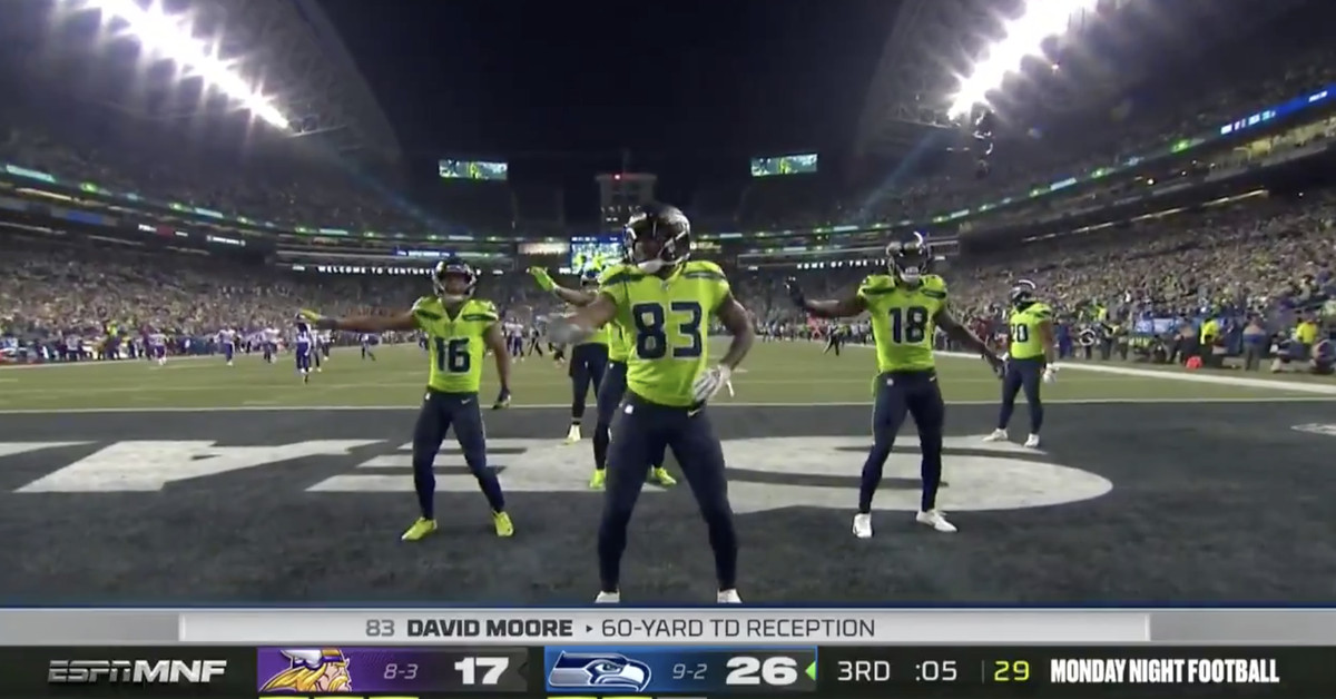 Seahawks Edition-inspired New Watch  celebration touchdown