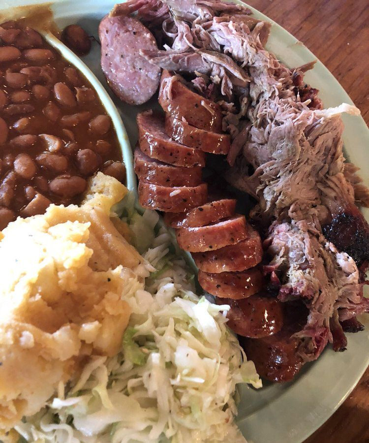 Barbecue from Salt Lick's Round Rock location