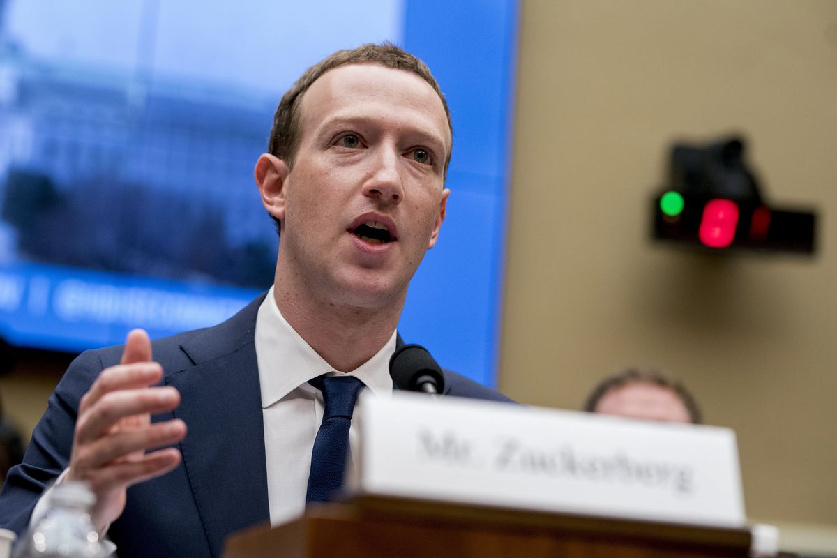 FILE - In this April 11, 2018, file photo, Facebook CEO Mark Zuckerberg testifies before a House Energy and Commerce hearing on Capitol Hill in Washington about the use of Facebook data to target American voters in the 2016 election and data privacy. Face