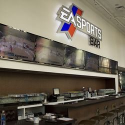 When EA Sports Bar opened, this was the bar area. Photo by Chelsea McManus