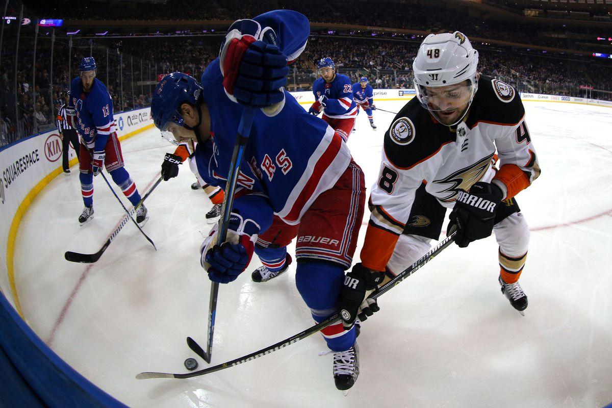 NHL: Anaheim Ducks at New York Rangers