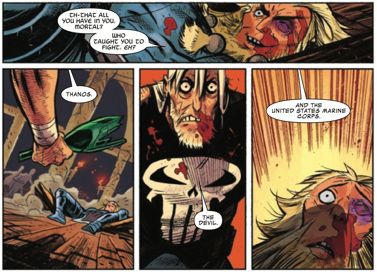 在漫威的疯狂新漫画中,鬼魂 - 废弃者的惩罚者是塔诺斯失败的宇宙关键