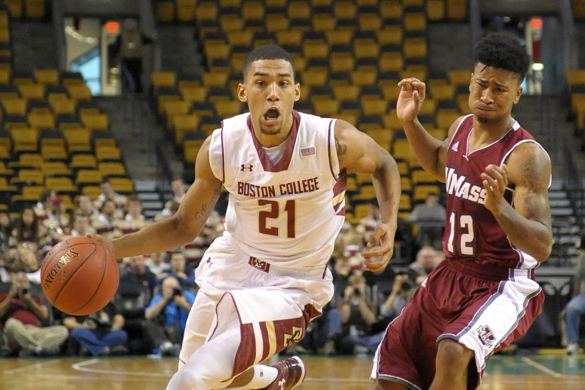 BC-UMass Basketball at the Garden off in 2015 - BC Interruption