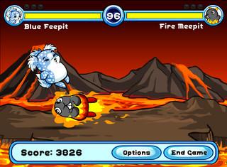 un fuoco meepit colpisce un fiepit