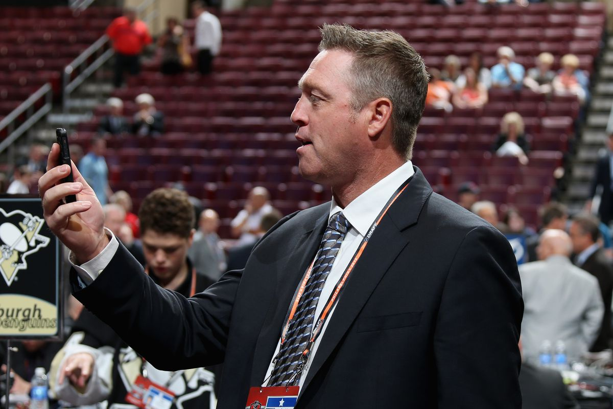 Patrick Roy, still trying to figure out where that shot went.