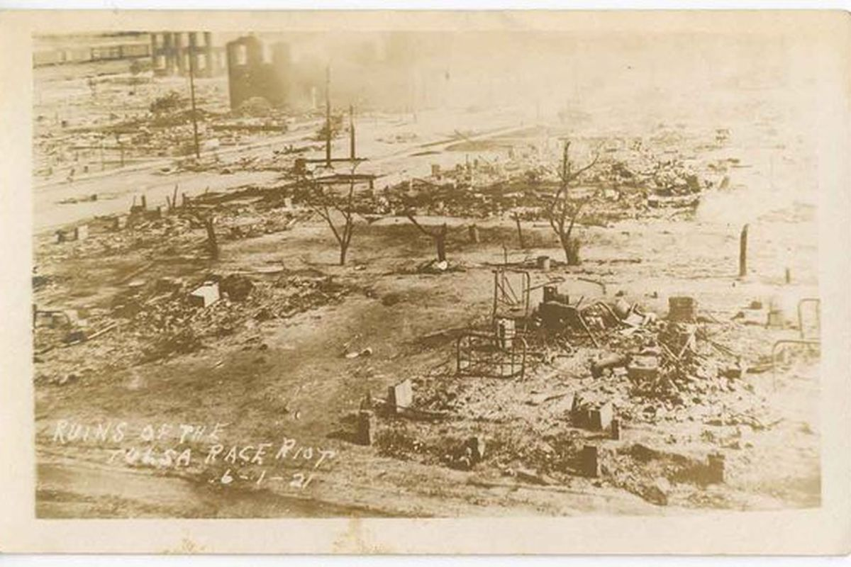 The remains of the Tulsa race massacre of 1921.