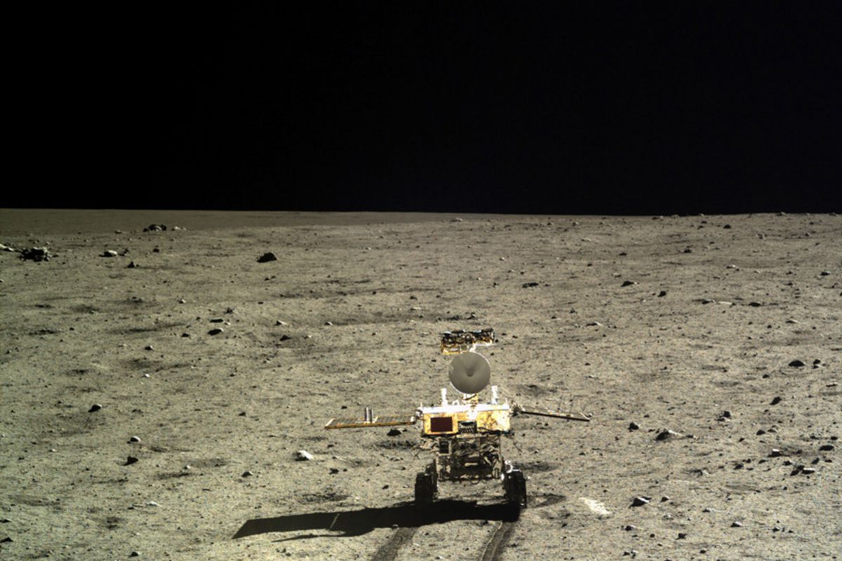 China's previous lunar rover, Yutu, landed in 2013 and was photographed by the Chang'e 3 lander as it drove away.