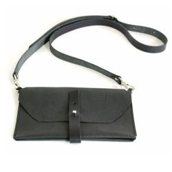 """Abutilon double-pocket bag, <a href=""""http://shop.thistleclover.com/collections/handbags/products/abutilon-double-pocket-natural-or-black"""">$175</a> at Thistle and Clover"""