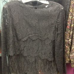 No.6 lace top with open back, $120 (was $325)
