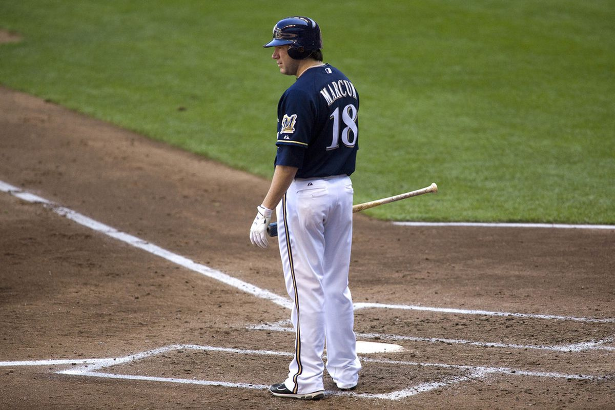 """Shaun Marcum didn't recognize the """"grand slam"""" sign at first, but figured it out eventually."""