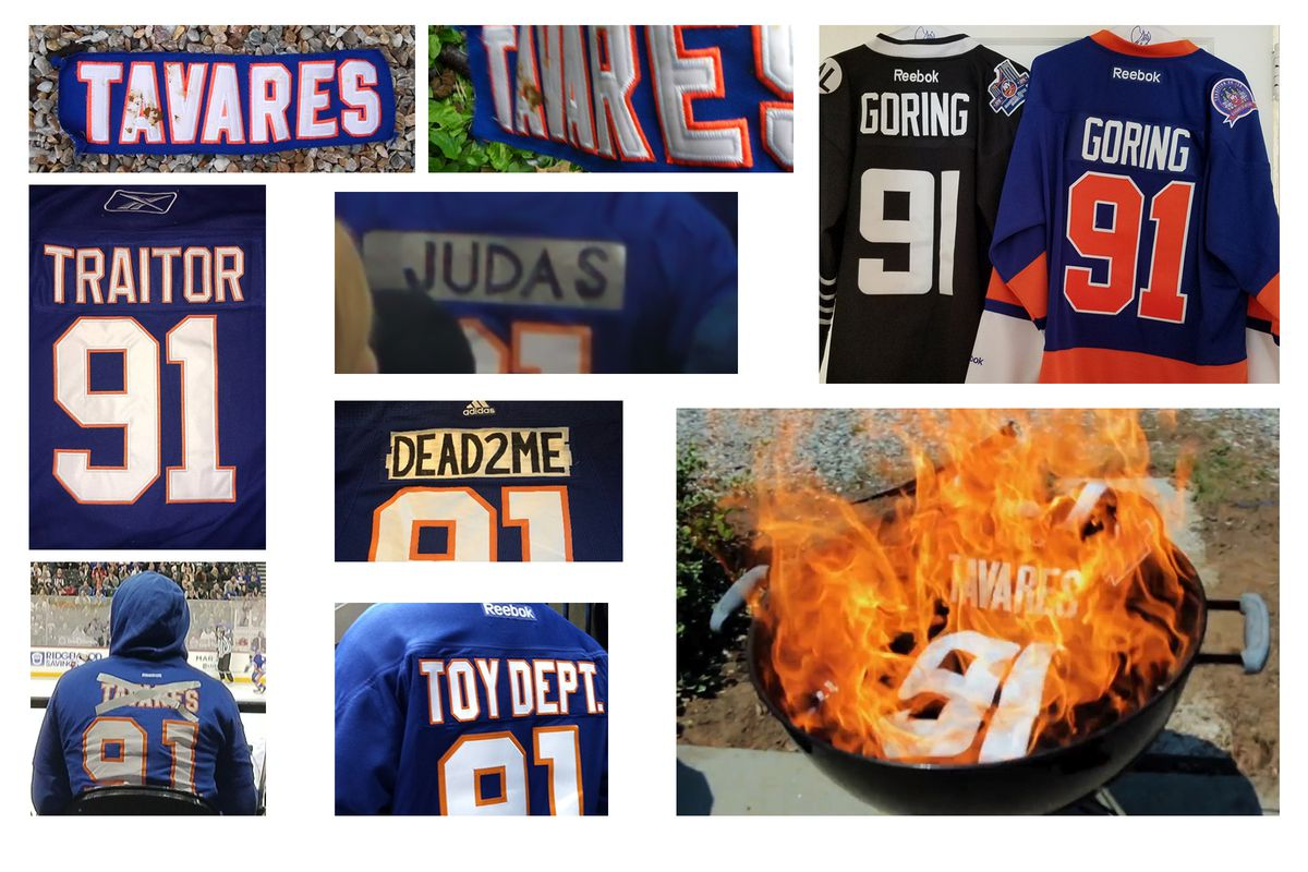 pretty nice c4870 79d1a What Islanders Fans Did With John Tavares Jerseys ...