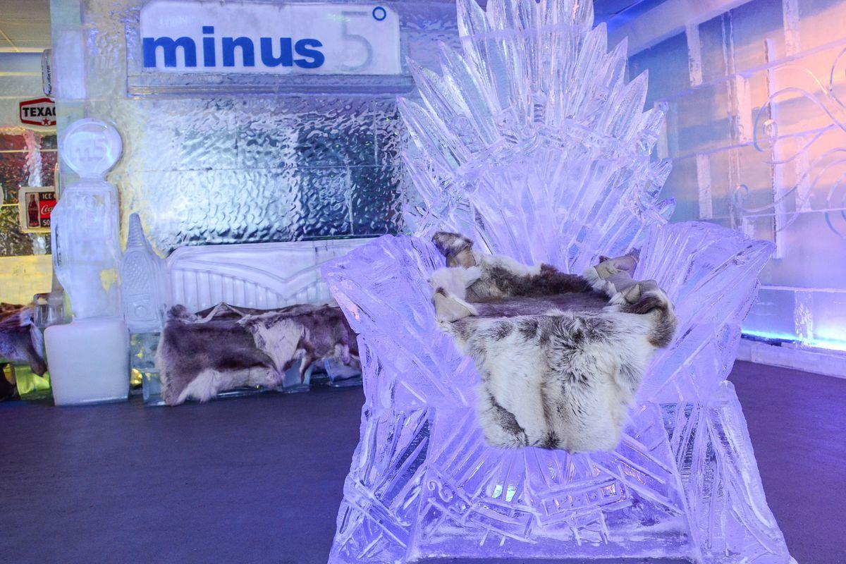 Game of Thrones' Iron Throne at Minus5 Ice Bar