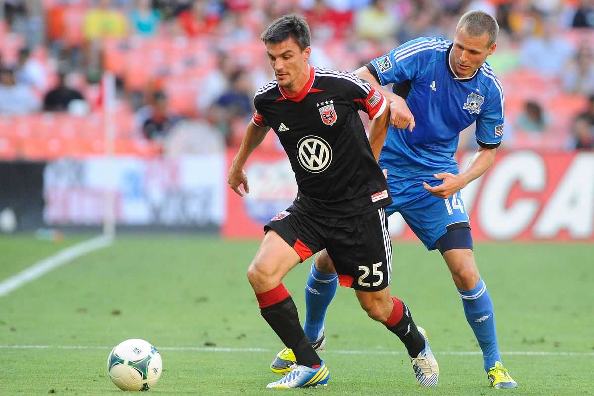 Alain Rochat (L) is just one of several former Whitecaps now playing for DC United