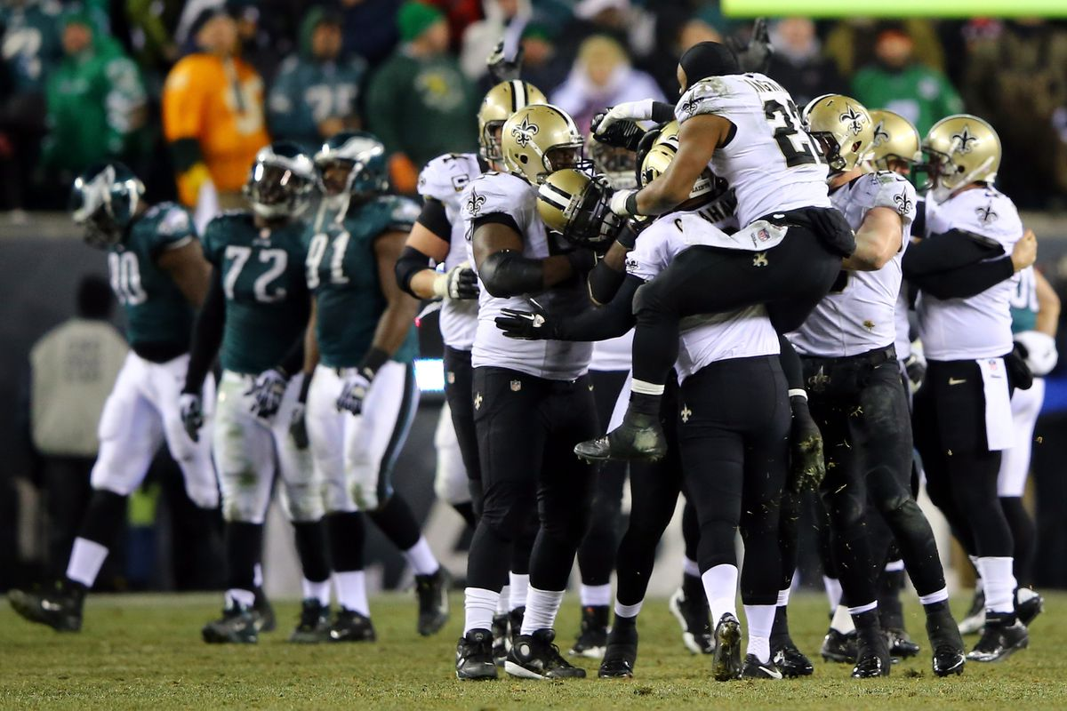 Image result for eagles saints 2013 playoffs field goal