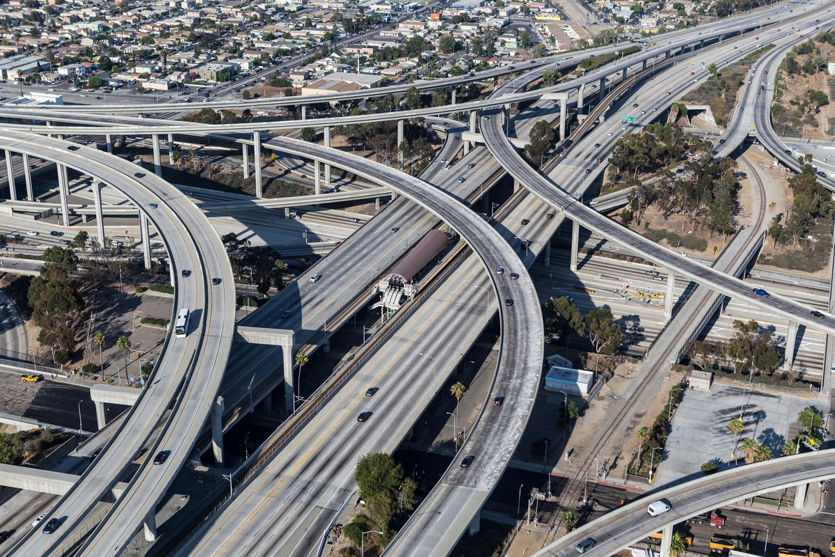 Ribbons of highways and interchanges in Los Angeles, California