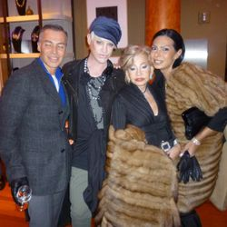 Richie Rich (second from left) and his fur-loving friends.