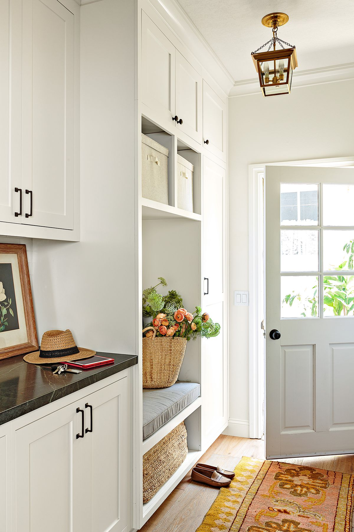 Cape Cod-style house remodel in Los Angeles, CA, mudroom/entry