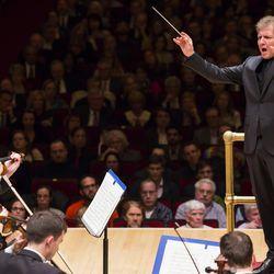 Utah Symphony performing at Carnegie Hall on April 29, 2016.