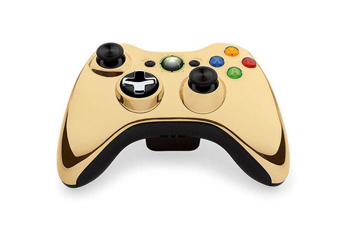 Gold chrome Xbox 360 controller coming in August - Polygon Xbox 360 Controller Designs Gold