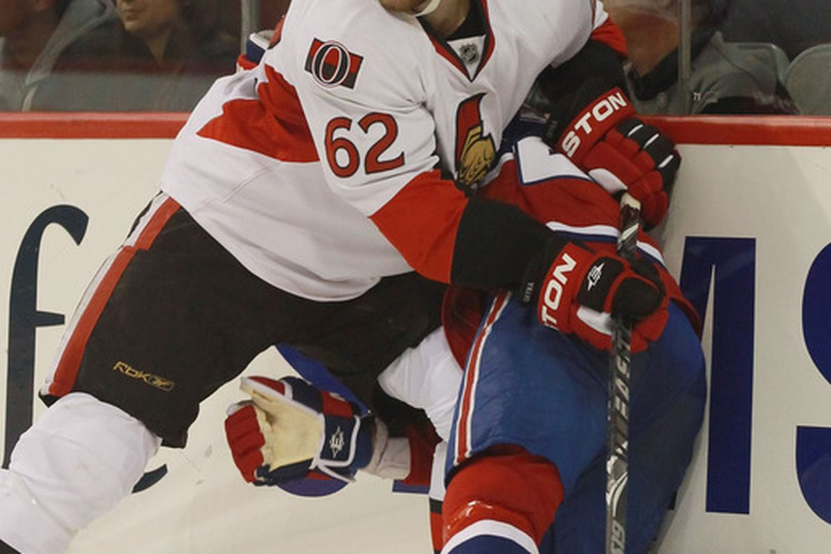 The Binghamton Senators are hoping the return of Eric Gryba, seen here in pre-season NHL action, will boost their defense corps.
