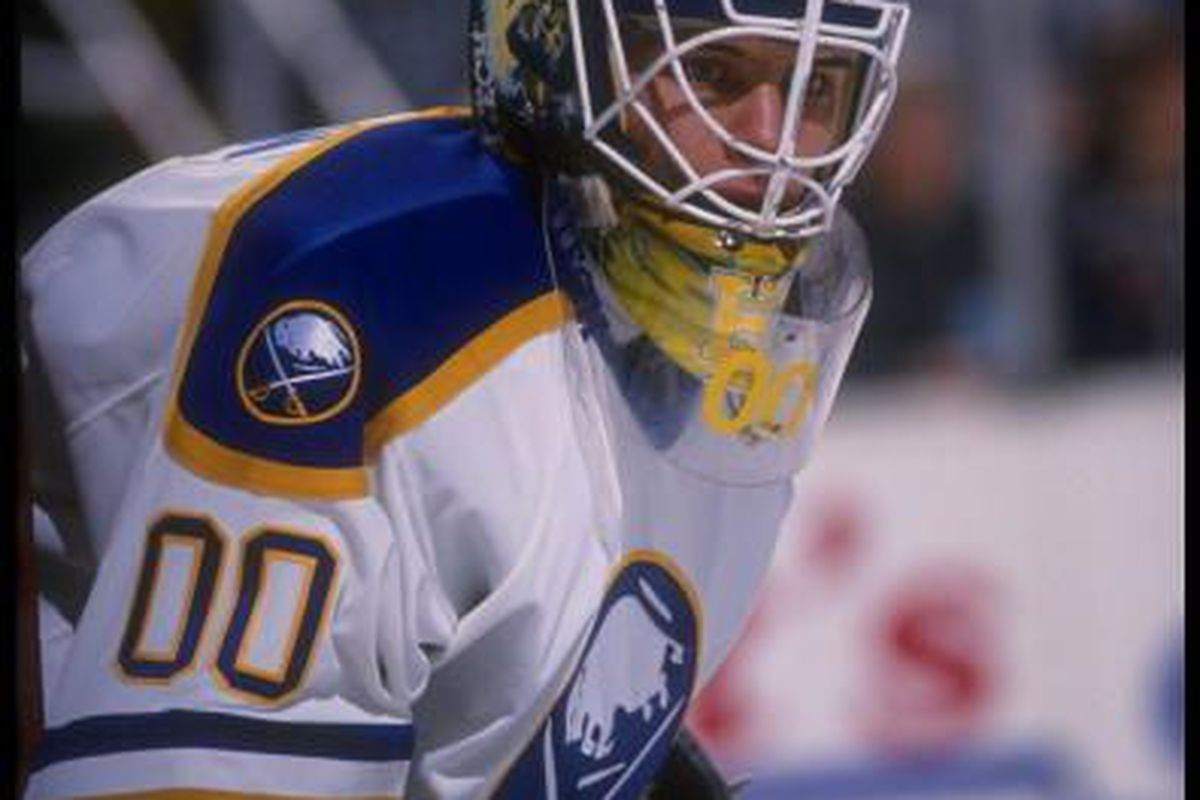 Martin Biron during the 1995-96 season. Our first number in the All Time Number Debate is 00.