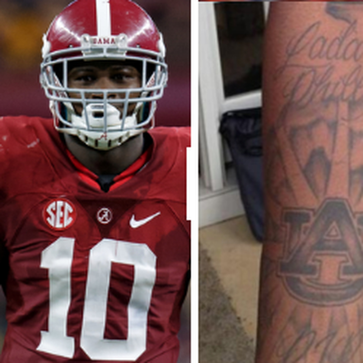 b0d25106c Why Alabama s Reuben Foster has an archrival Auburn tattoo - SBNation.com