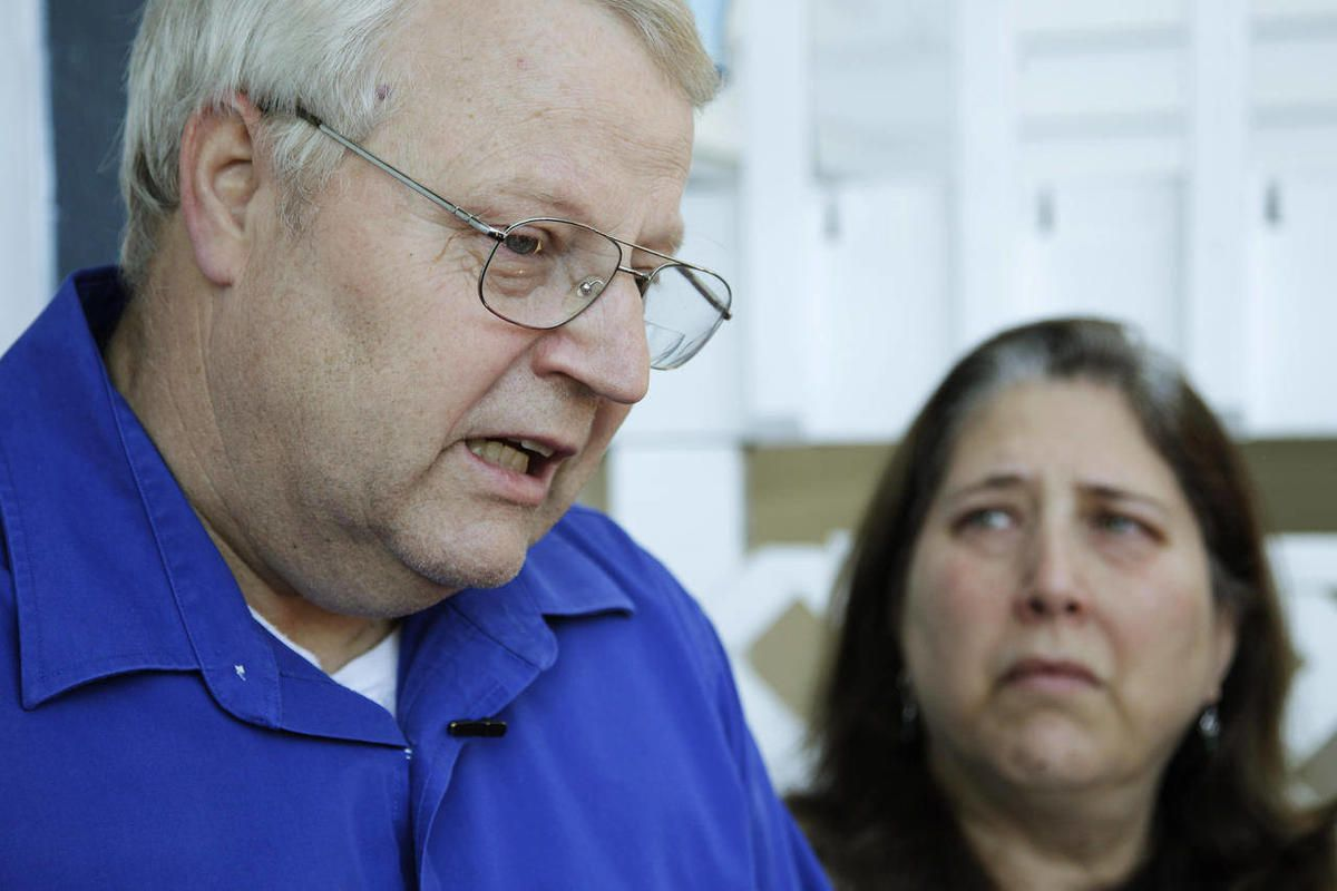 Chuck and Judy Cox, the parents of missing Utah mother Susan Cox, talk to reporters at their home in Puyallup, Wash., Monday, Feb. 6, 2012.The family of Susan Cox Powell plans to appeal to the West Valley City Council for records related to the investigat