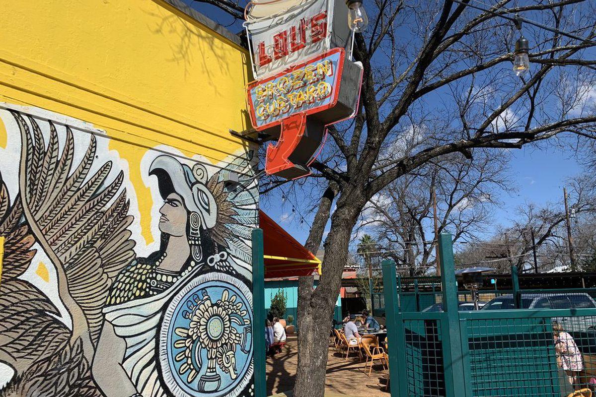A mural at Lou's Bodega