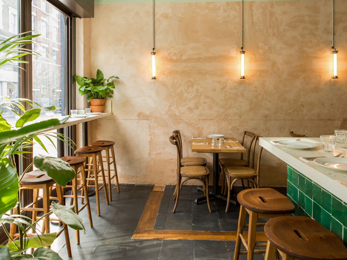 The interior of Bubala, on Commercial Street in east London —one of the hottest restaurants in London, October 2019