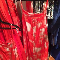 Print dress, $135